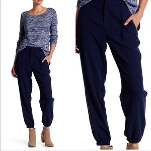 NEW • Joie • Matias Crepe Slouchy Jogger Pant Navy